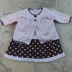 Carter's newborn dress and cardigan